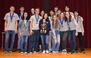 Columbia Science Olympiad team at the 2018 Regional Championship