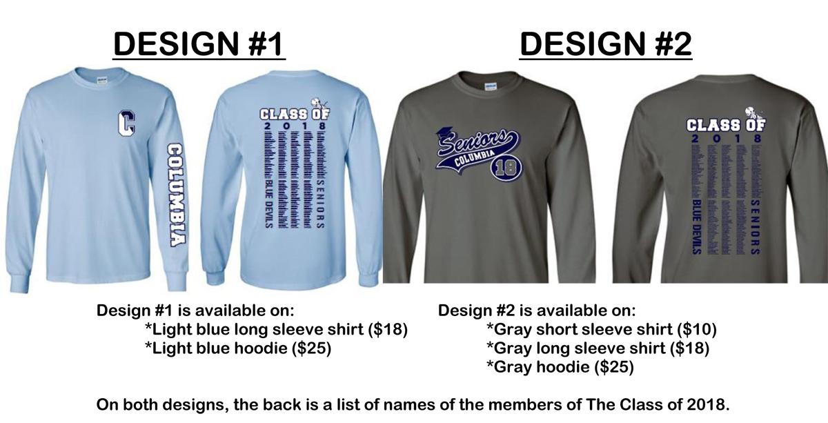Class of 2018 senior class shirts
