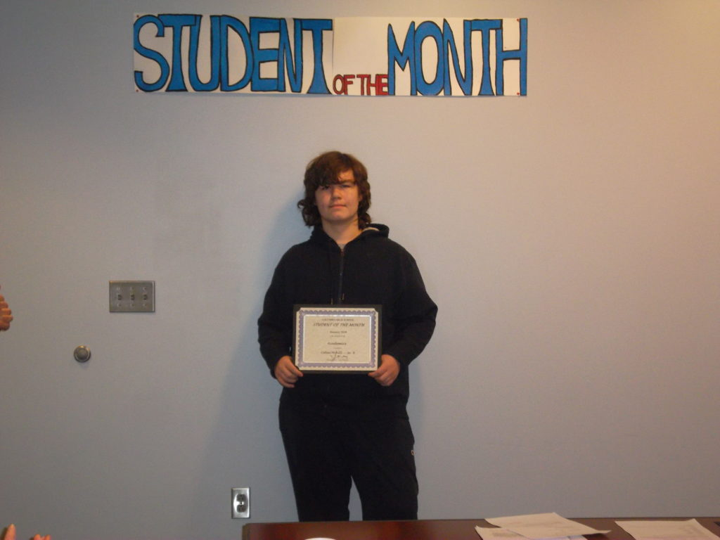 Student of the Month Colin Mihill