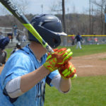 Columbia baseball player in the on-deck circle
