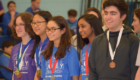 Goff Science Olympiad students with medals