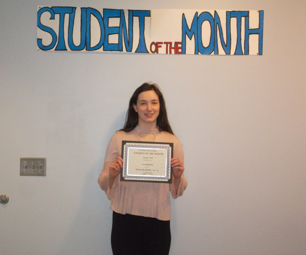 Student of the Month Hannah White
