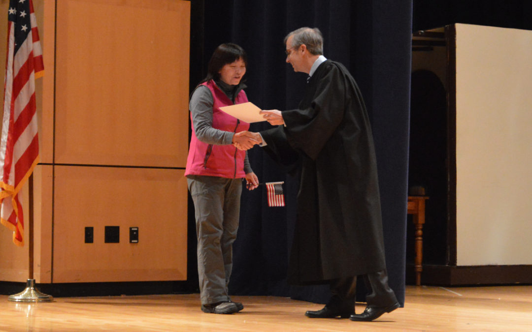 Columbia Hosts Naturalization Ceremony for 21 New Americans