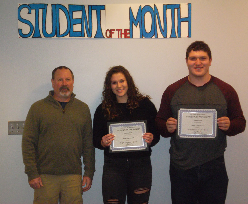 Students of the Month Nicholas and Eliza Furnari