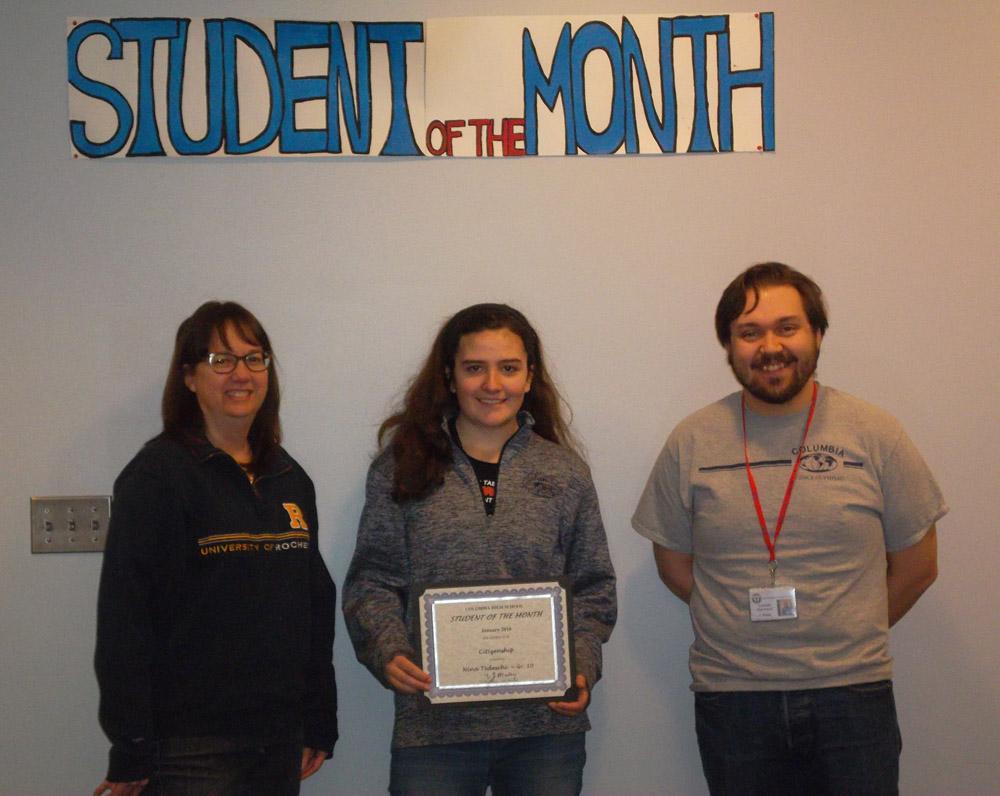 Student of the Month Nina Tedeschi