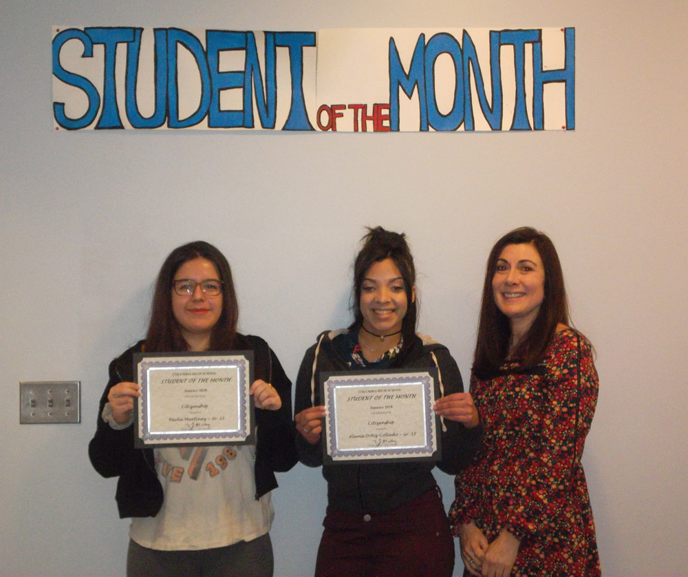 Students of the Month Paola Martinez and Alanis Ortiz-Collado