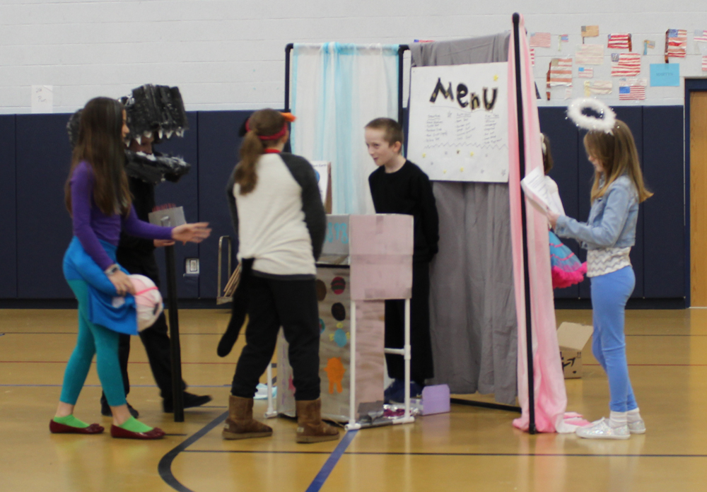 Students at the 2018 Odyssey of the Mind Regional Tournament