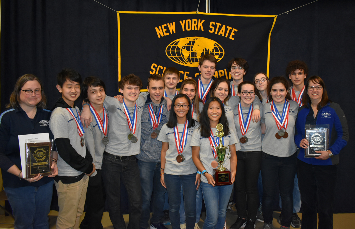 Columbia Science Olympiad team at 2018 NYS Championship