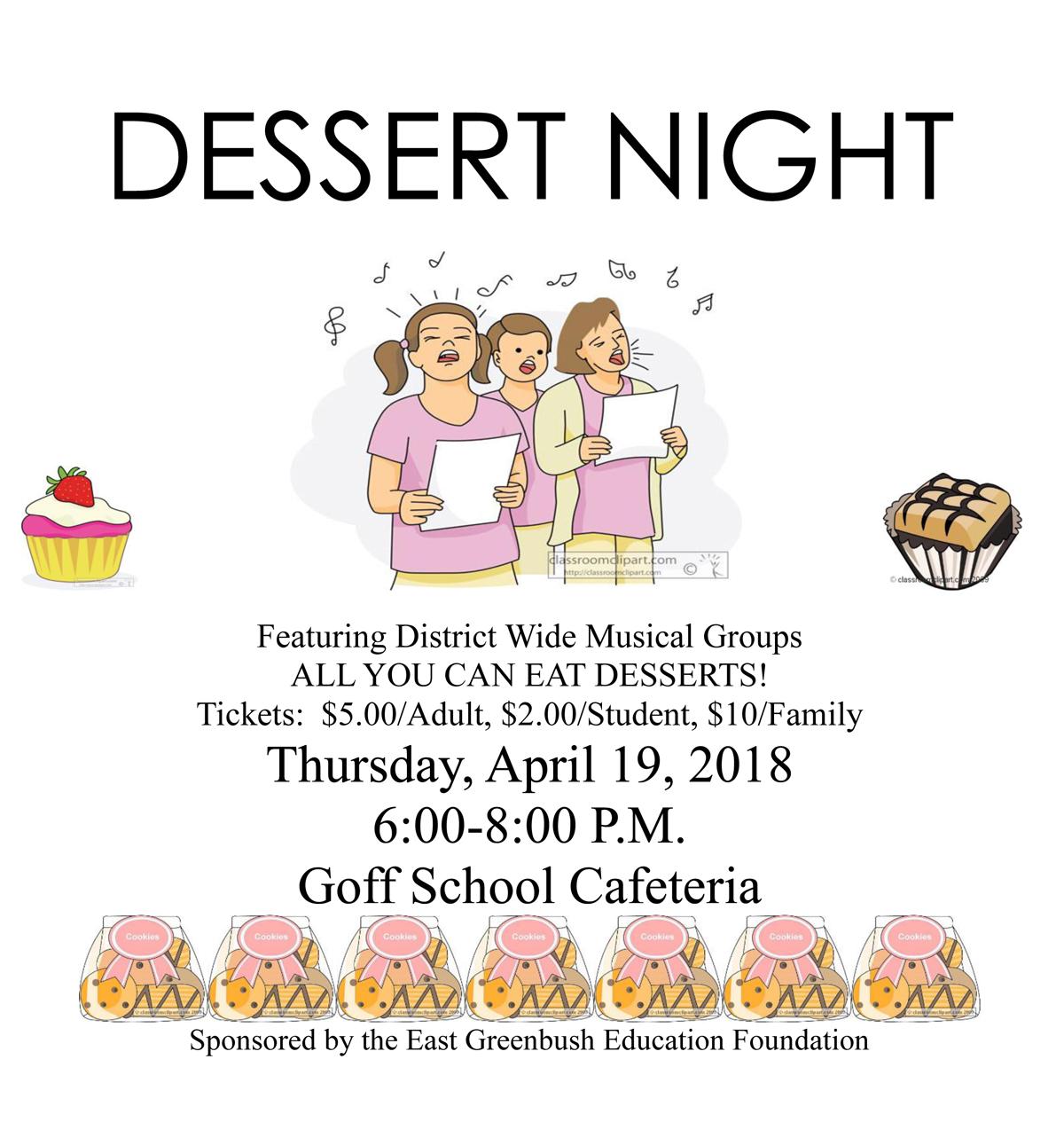 Dessert Night flyer