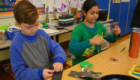 Students construct kaleidoscopes