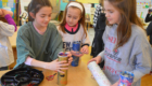 Students construct kaleidoscopes