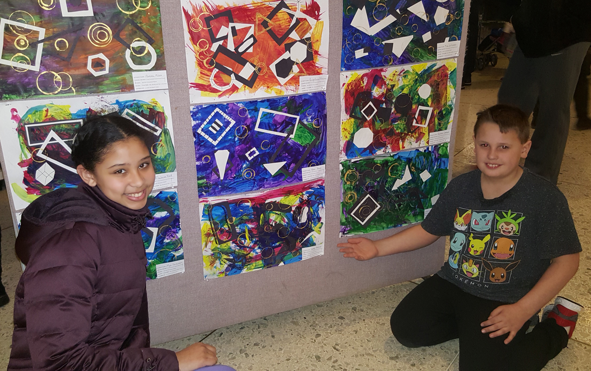 Red Mill students at Empire State Plaza art exhibit