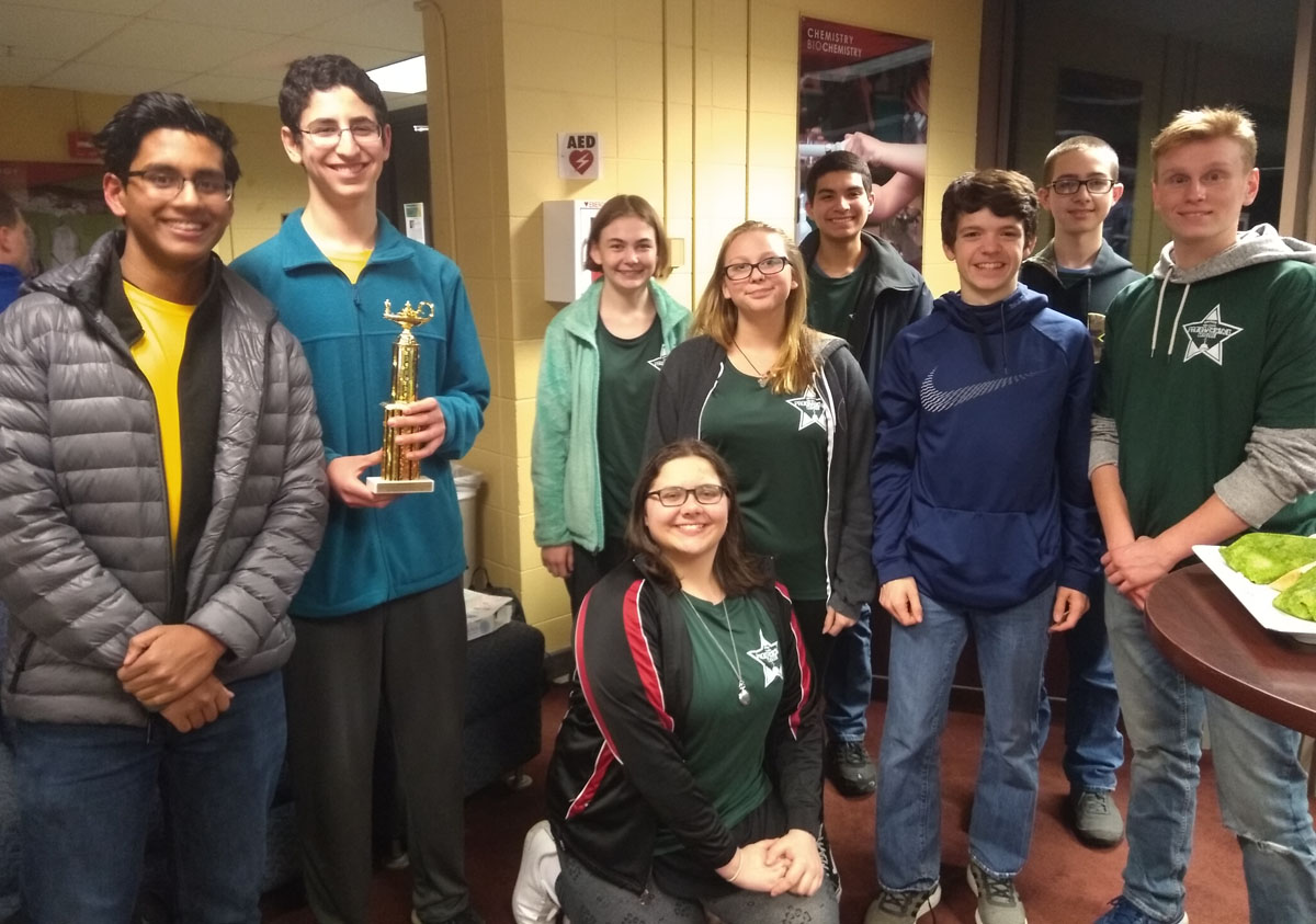 Columbia students at the 31st annual Siena College High SchoolComputerProgrammingContest