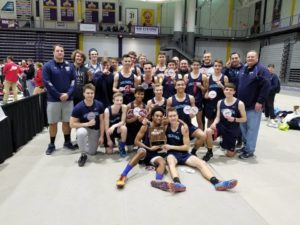 Columbia indoor track at Section 2 championships