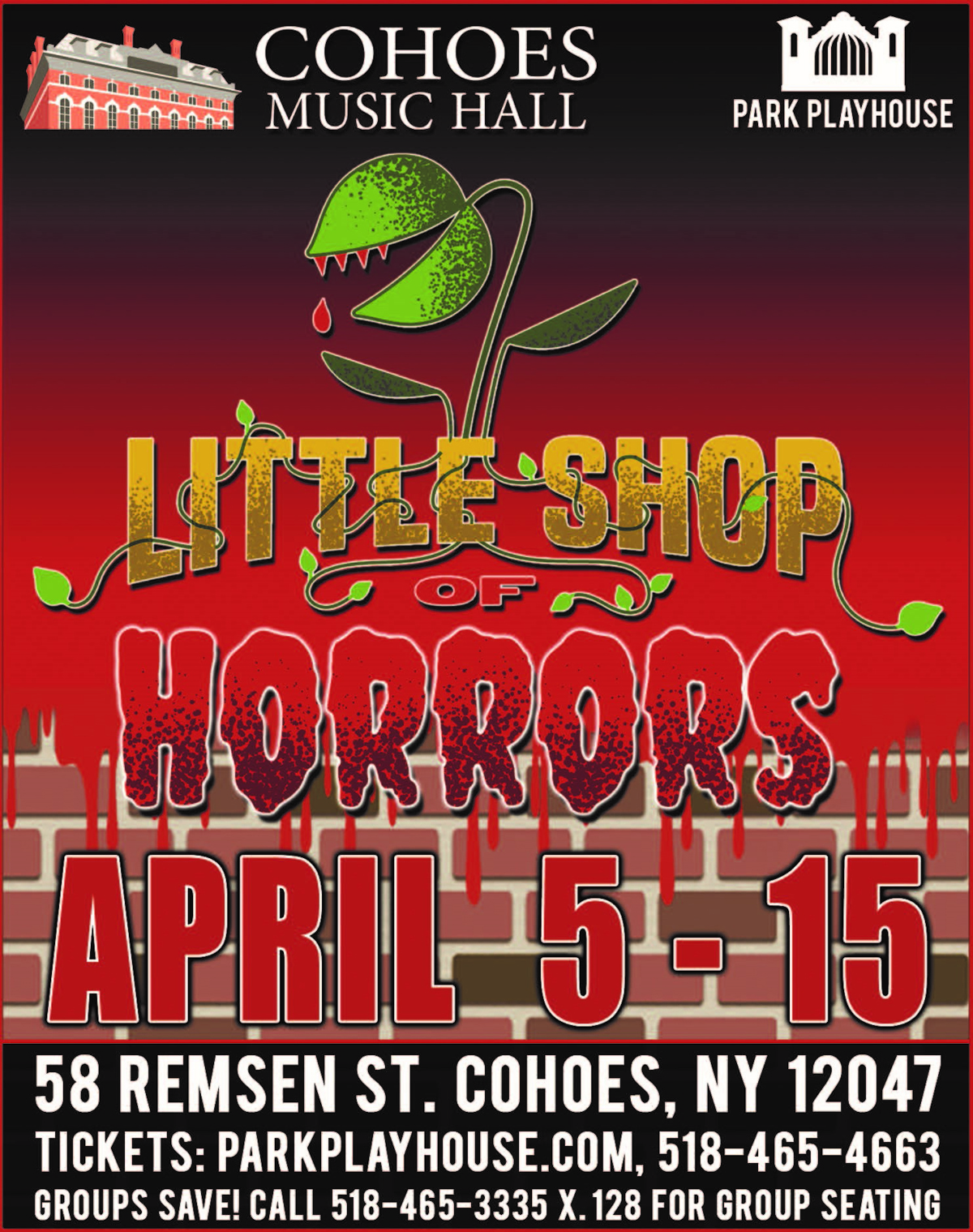 Little Shop of Horrors flyer