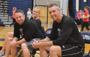 Scott Siver at faculty volleyball tournament