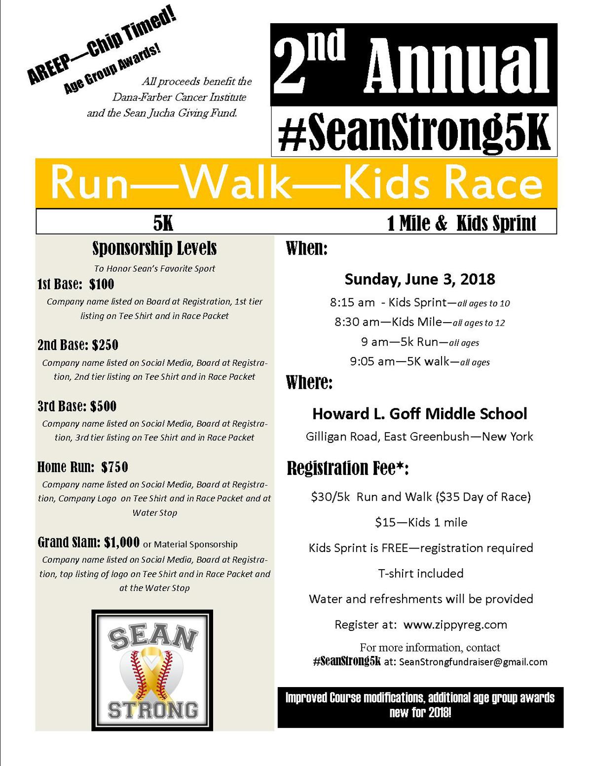 Sean Strong 5K Flyer