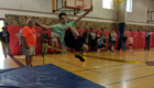 Student in high jump event