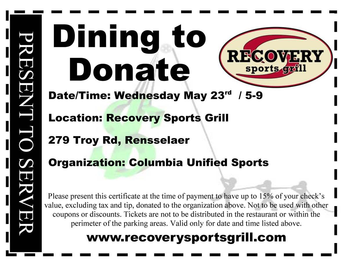 Dine to Donate voucher