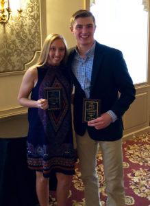 Amanda Lobban and Tyler Piel at PE Leadership Awards