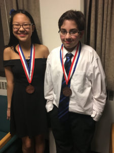 Ethan Trautman and Clara Xin at Science Olympiad Nationals