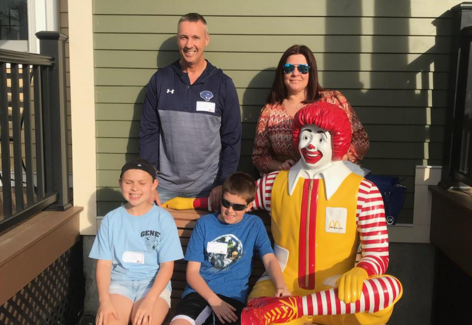 Genet students and teachers at Ronald McDonald House