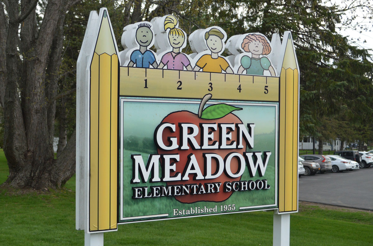Green Meadow sign
