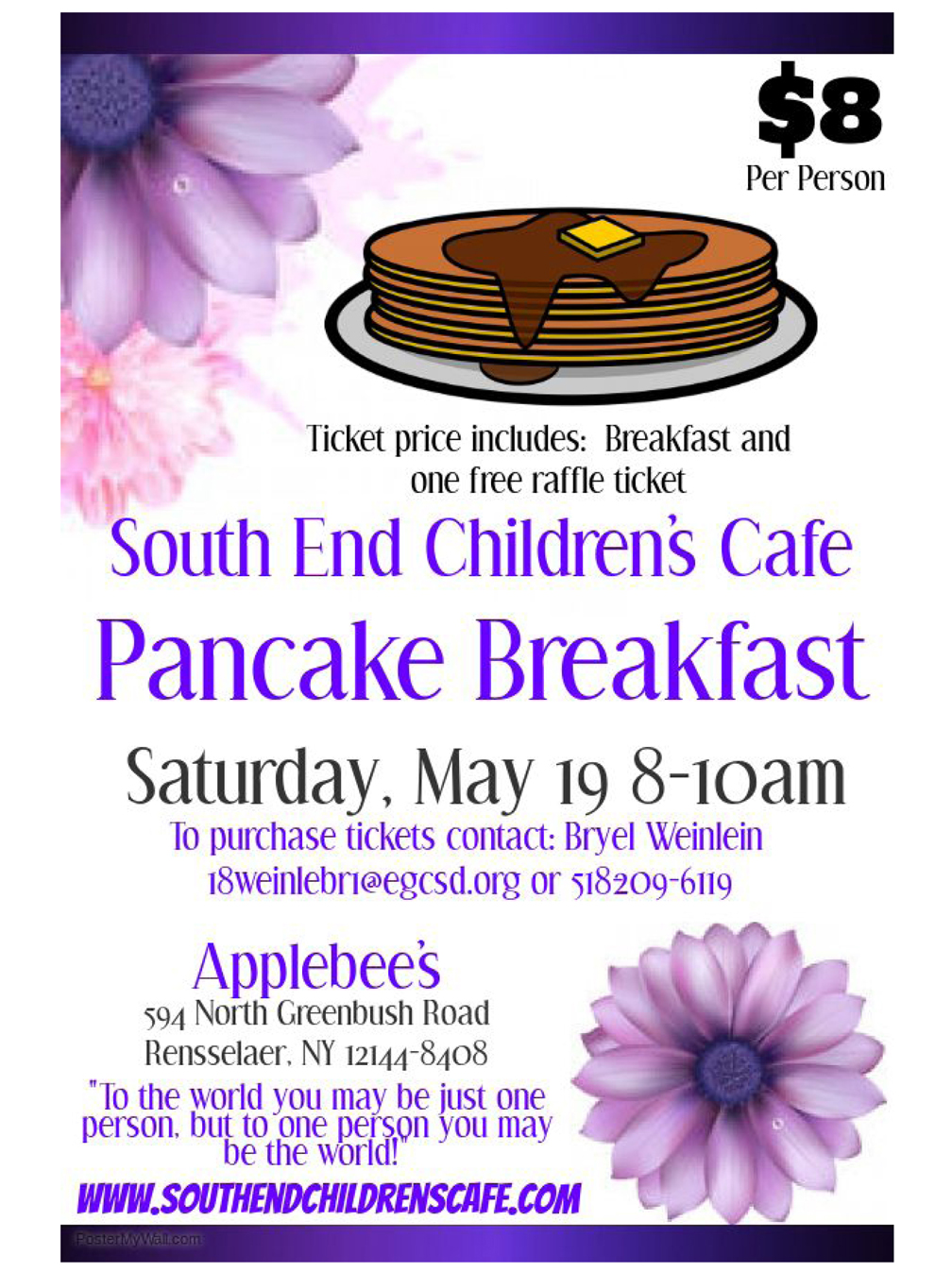 South End Childrens Cafe pancake breakfast web