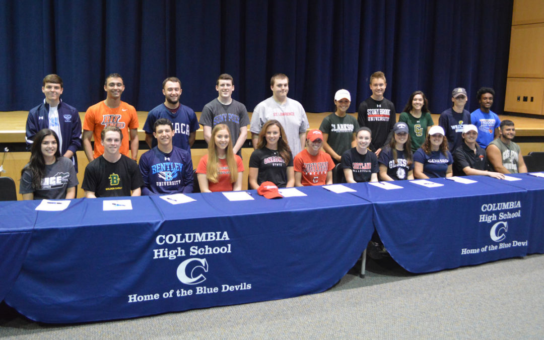 22 Columbia Student Athletes Sign College Commitments