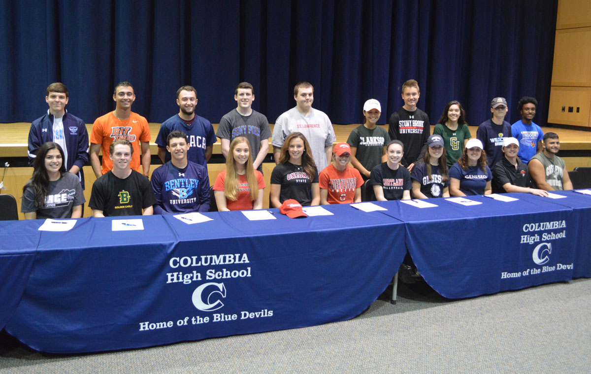 Student athletes make college commitments