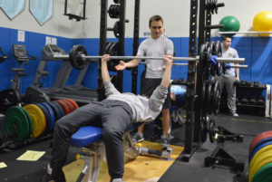 Students in weight room