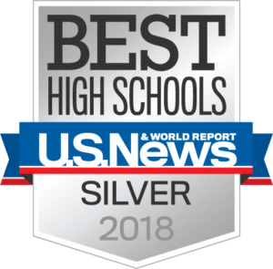 U.S. News silver medal logo 2018