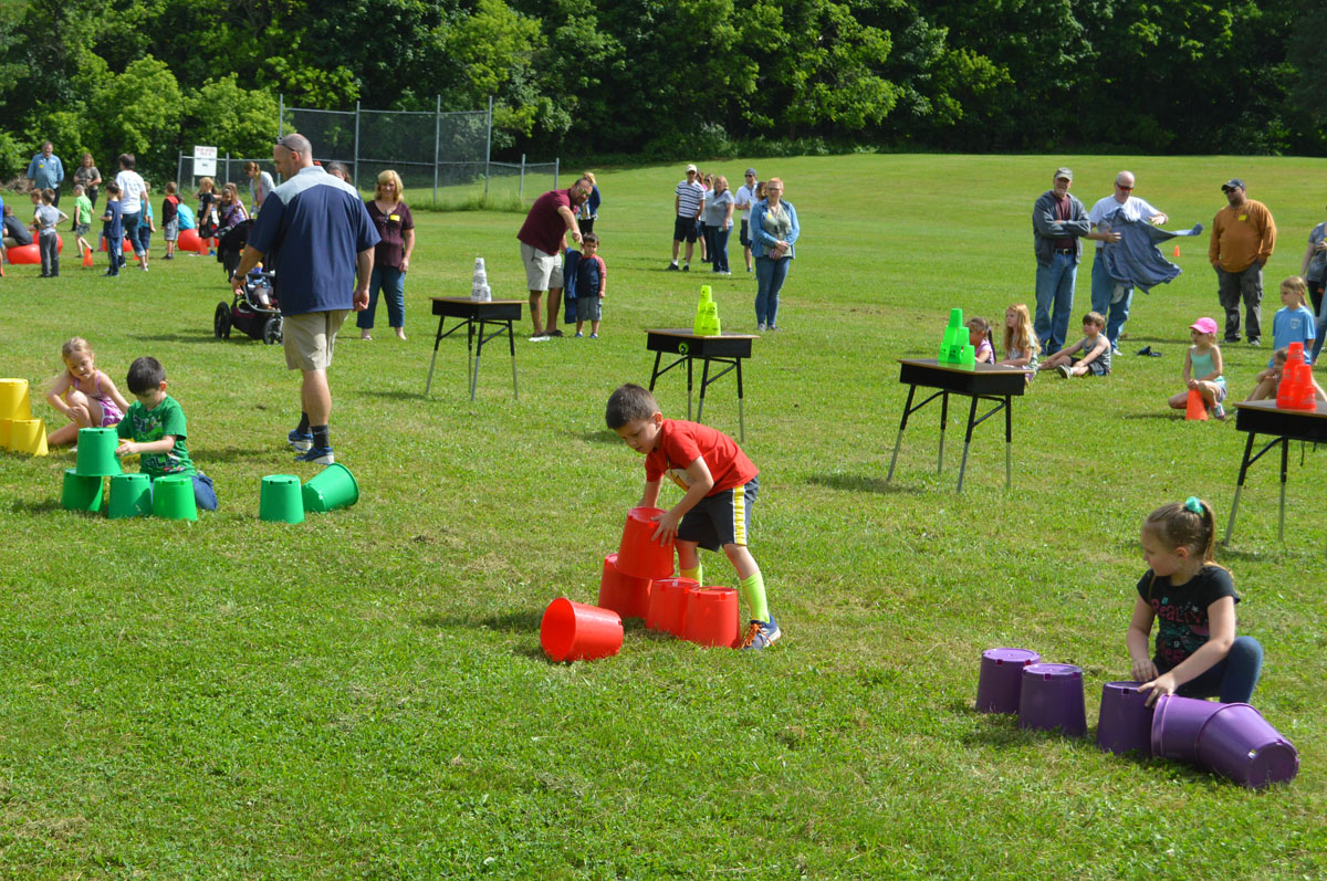 Relay race at Field Day