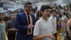 Students exit Elevation Celebration