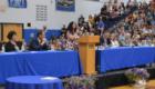 Mrs. Vlieg speaks from podium