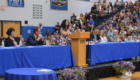 Mrs. Vlieg speaks from podium