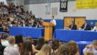 Ryan Seely speaks from podium