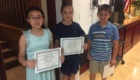 Red Mill students with certificates