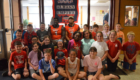 Albany Empire players with Red Mill students