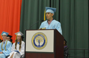 Bryan Serian speaking at 2018 Commencement