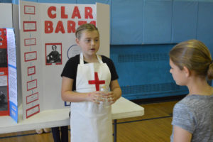 Student dressed as Clara Barton