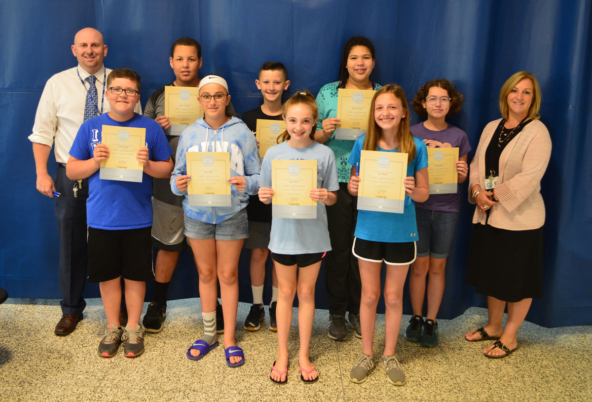 Goff 6th grade students of the month May 2018
