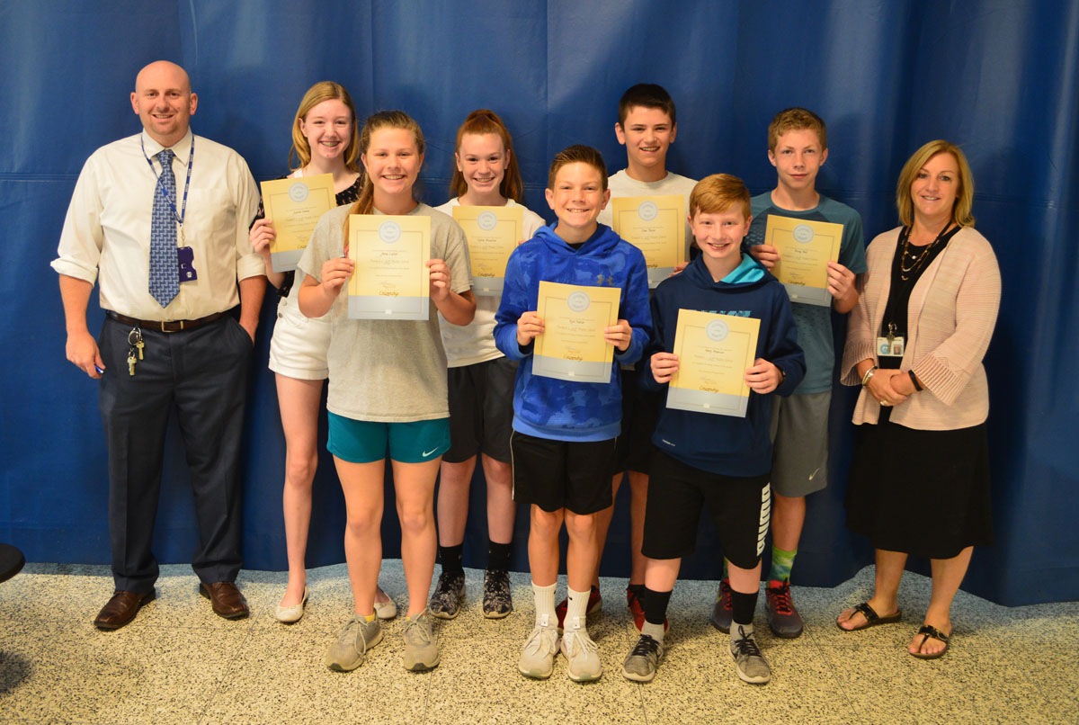 Goff 7th grade students of the month May 2018