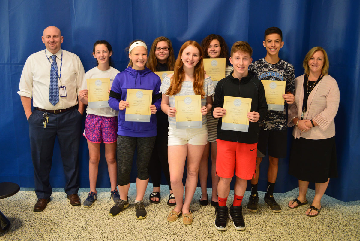 Goff 8th grade students of the month May 2018