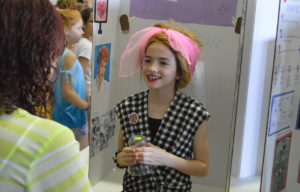 Student dressed as Lucille Ball