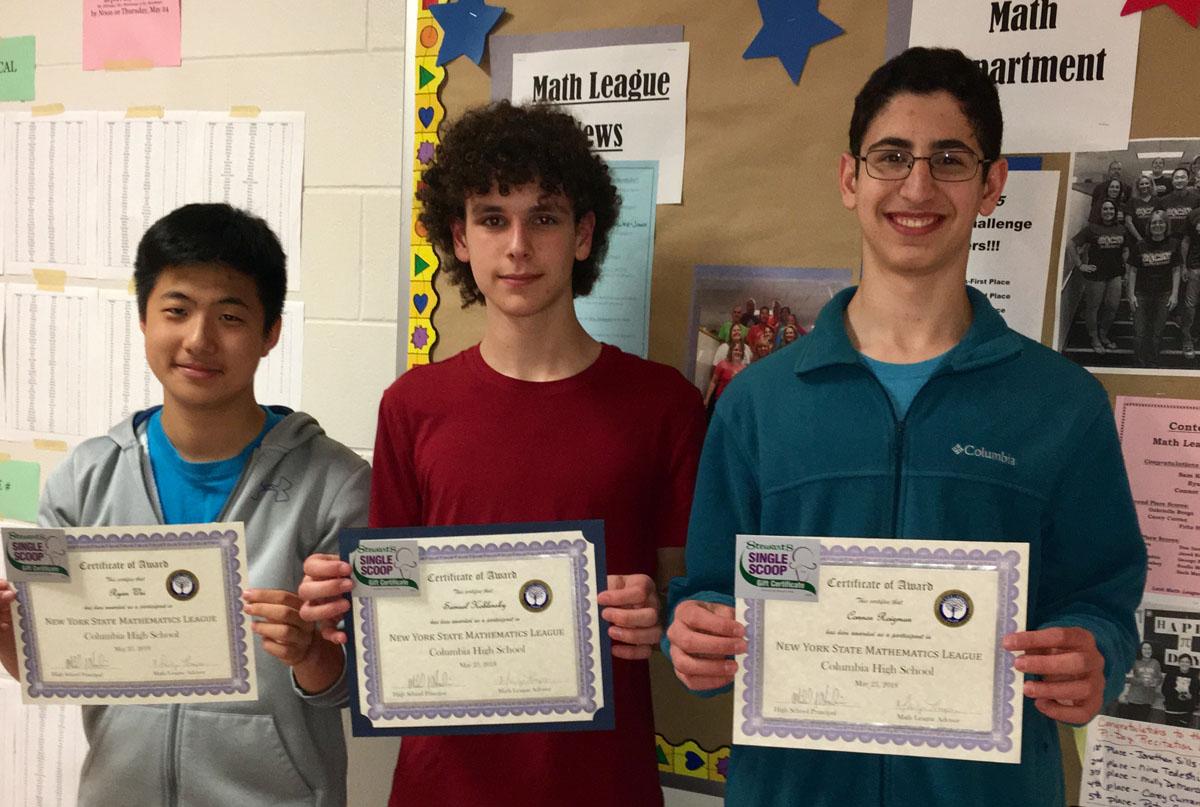 Columbia Math League participants