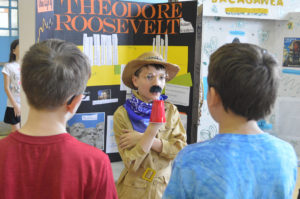 Student dressed as Teddy Roosevelt