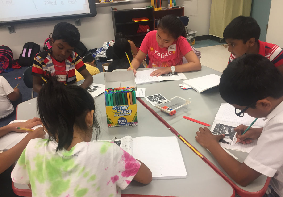 Students write in journals