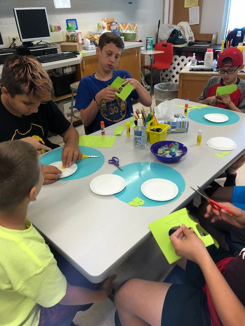 Students make a craft