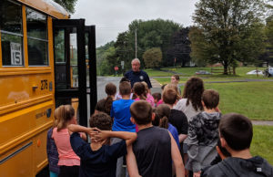 Bus safety drill at Genet